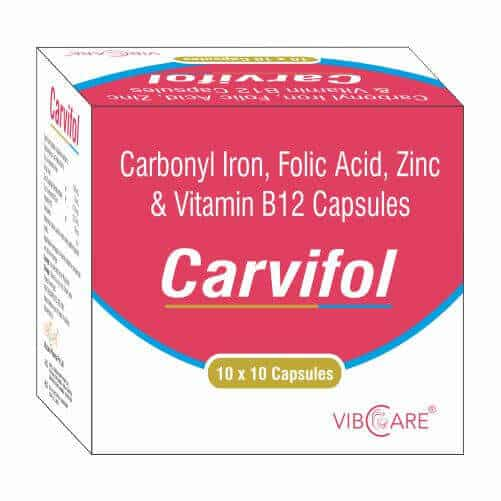 Carbonyl Iron Folic Acid Zinc And Vitamin B12 Carvifol Vibcare Pharma